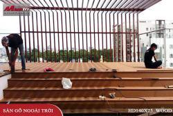 Lắp đặt sàn gỗ Awood HD140x25_Wood tại Nguyễn Kiệm quận Gò Vấp