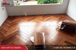 Lắp đặt sàn gỗ Căm Xe xương cá tại TP. Mỹ Tho, Tiền Giang