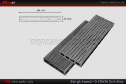 Sàn gỗ Awood HD135x25 Dark Grey