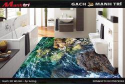 Gạch 3D trong trang trí phòng tắm