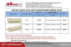 Báo giá Diềm Mái gỗ Conwood