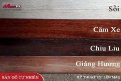 Sàn gỗ Sồi tự nhiên lên màu