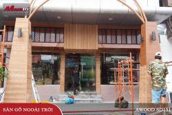 Gỗ nhựa Awood SD151x10 ốp trang trí quán cafe quận Gò Vấp