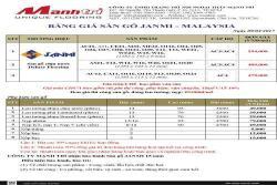 Bảng báo giá sàn gỗ Janmi