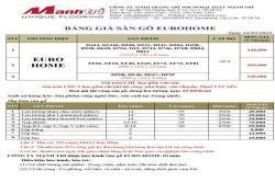 Bảng báo giá sàn gỗ Eurohome