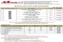 Bảng giá sàn gỗ Kosmos
