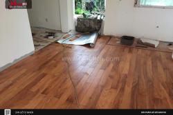 Thi công sàn gỗ tự nhiên Mạnh Trí