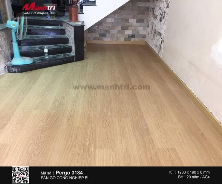 Lắp đặt sàn gỗ công nghiệp Pergo 3184 tại Q.Gò Vấp, TP.HCM