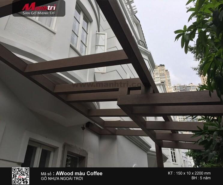 Thi công gỗ nhựa ngoài trời AWood cho Công ty Thương mại An Sơn