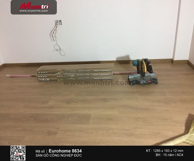 Lắp đặt sàn gỗ công nghiệp Eurohome 8634 tại Q.9, TP.HCM