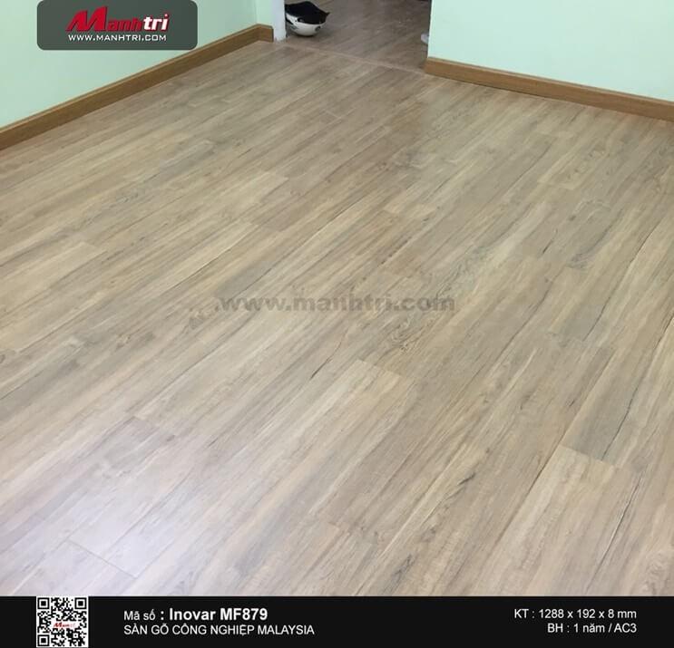 Thi công sàn gỗ công nghiệp Inovar MF879 tại Q.10, TP.HCM