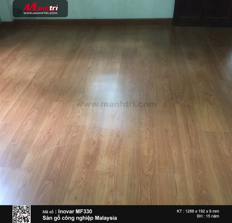 Thi công sàn gỗ công nghiệp Inovar MF330 tại Lê Hồng Phong, Q.10