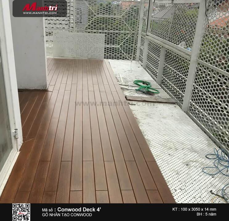 Thi công gỗ nhân tạo Conwood Deck 4' tại Khu biệt thự Thảo Điền, P.Thảo Điền, Q.2