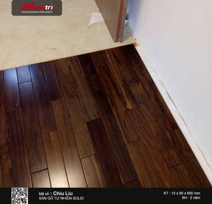 Thi công sàn gỗ tự nhiên Chiu Liu tại Đường số 23, Hiệp Bình Chánh, Q.Thủ Đức