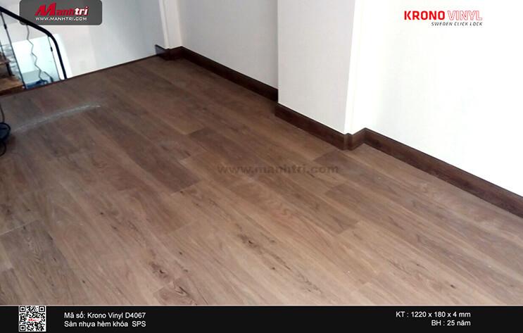 Thi công sàn nhựa hèm khóa SPC Krono Vinyl 4067 tại 81/16, Nguyễn Hữu Cầu, phường Tân Định, Q. 1