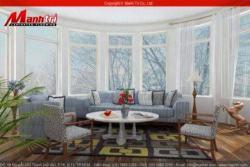 Ảnh phòng khách đẹp nhất Công ty Sàn gỗ Mạnh Trí
