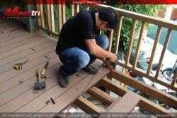 Cung cấp thi công lắp đặt sàn gỗ ngoài trời giá 1,200,000/m2