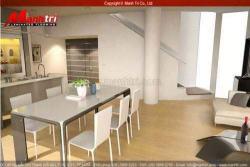 Ghế đẹp kết hợp sàn gỗ công nghiệp lót sàn nhà