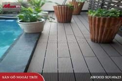 Gỗ nhựa Awood HD140x25 lót sàn hồ bơi ngoài trời tại Nguyễn Huệ, quận 1