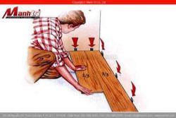 Lắp đặt sàn gỗ công nghiệp như thế nào
