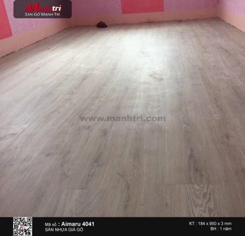 Lắp đặt sàn nhựa giả gỗ Aimaru 4041 tại Quận Thủ Đức, TP.HCM