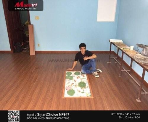 Lót sàn gỗ công nghiệp SmartChoice NP947 tại Q.Bình Thạnh, TP.HCM