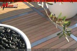 Sàn gỗ Awood dùng lót sàn trang trí sân vườn