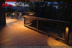 Sàn gỗ ngoài trời Awood buổi tối & ánh sáng tuyệt đẹp