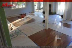 Sàn gỗ sau khi thi công dành cho phòng nghệ thuật trưng bày