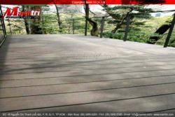 Thi công sàn gỗ nhựa ngoài trời composite Awood cho Ban công