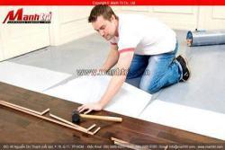 Thi công sàn gỗ tự nhiên - cách lắp đặt cơ bản