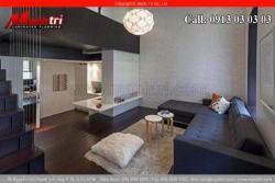 Thiết kế căn hộ nhỏ hẹp với sàn gỗ công nghiệp