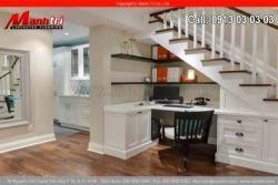 Thiết kế phòng làm việc đẹp cùng sàn gỗ công nghiệp