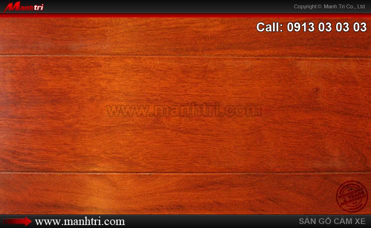Lắp đặt sàn gỗ tự nhiên Căm Xe tại ngôi biệt thự quận 1, TPHCM
