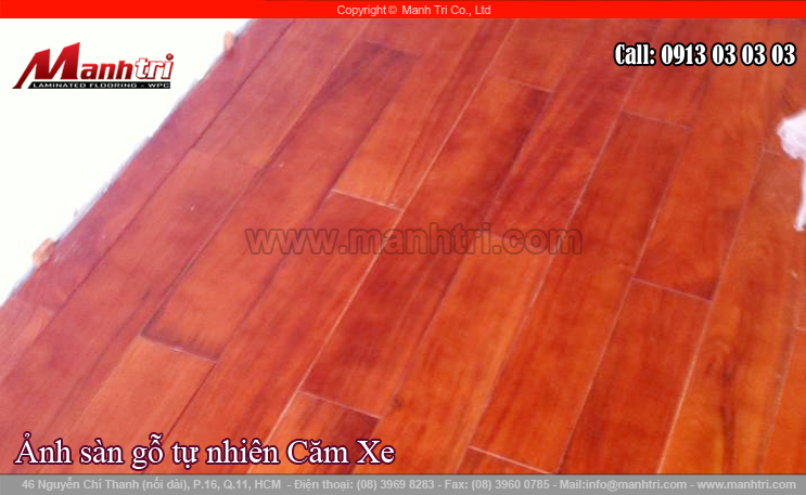 Thi công sàn gỗ tự nhiên Căm Xe tại quận 5, TPHCM