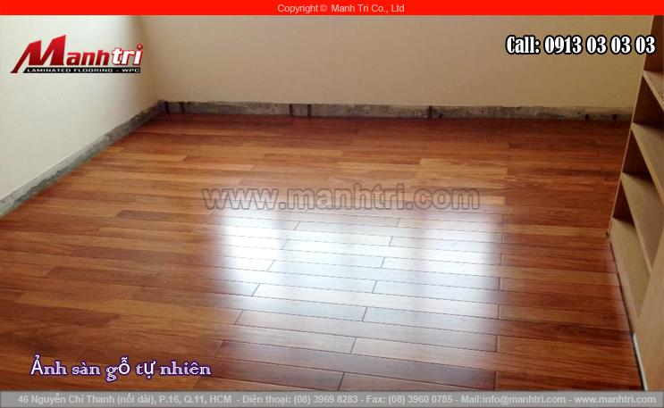 Thi công sàn gỗ tự nhiên Căm Xe tại quận 1, TPHCM