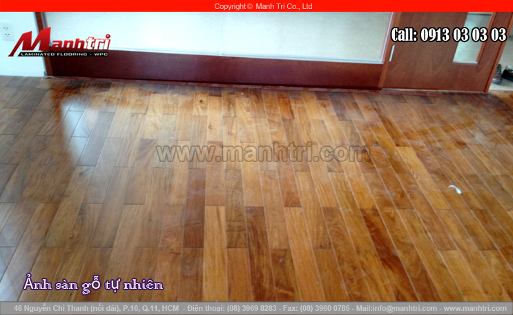Lắp đặt sàn gỗ tự nhiên Căm Xe tại quận 1, TPHCM