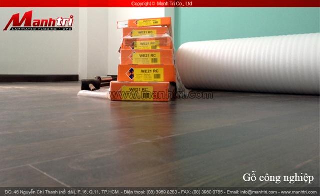 Dự án thi công sàn gỗ công nghiệp Janmi WE21 tại quận 11 TPHCM