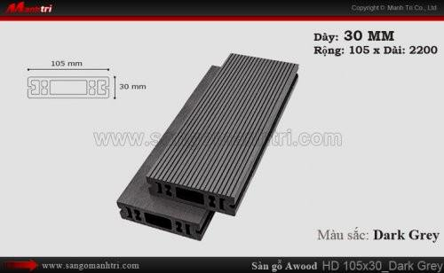 Sàn gỗ Awood HD105x30 Dark Grey