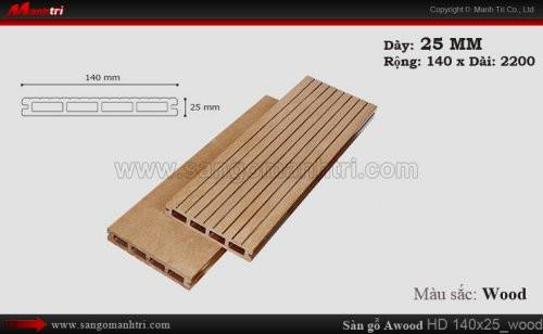 Sàn gỗ Awood HD140x25 Wood