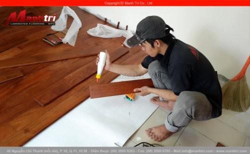 Sàn gỗ tự nhiên Căm Xe lót sàn tại chung cư Đặng Văn Ngữ quận Phú Nhuận, TPHCM