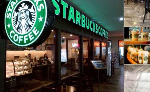 Gago LG125 lót sàn, ốp tường xương cá cafe Starbucks quận 1