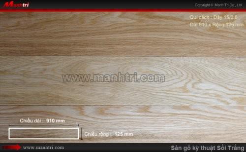 Sàn gỗ kỹ thuật Sồi Trắng - dày 15/0.6