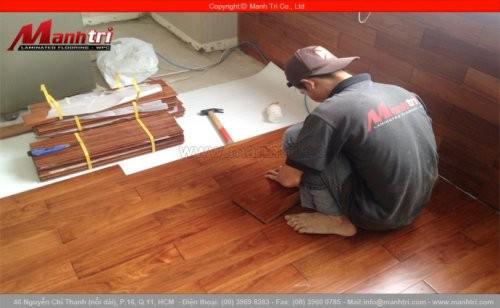 Gỗ tự nhiên Căm Xe lót sàn tại chung cư Satra quận Phú Nhuận, TPHCM
