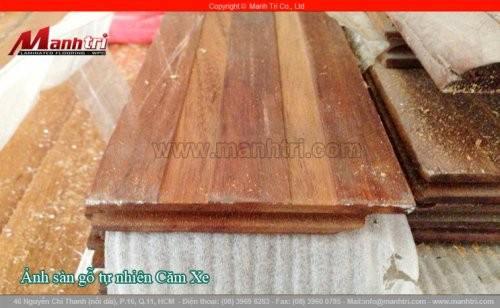Lắp đặt ván gỗ tự nhiên Căm Xe tại quận 1, TPHCM