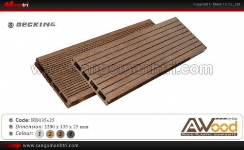 Sàn gỗ Awood HD135x25 Coffee