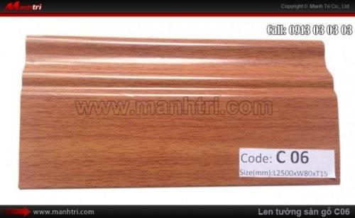 Len chân tường sàn gỗ C06