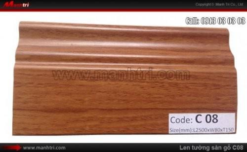 Len chân tường sàn gỗ C08