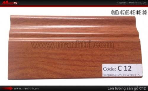 Len chân tường sàn gỗ C12