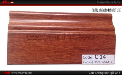 Len chân tường sàn gỗ C14